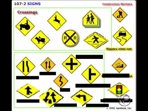What Signs to Know When Studying for a Road Test